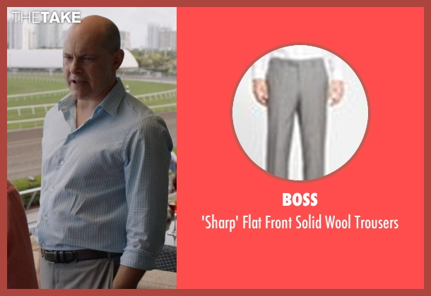 BOSS gray trousers from Ballers seen with Joe (Rob Corddry)