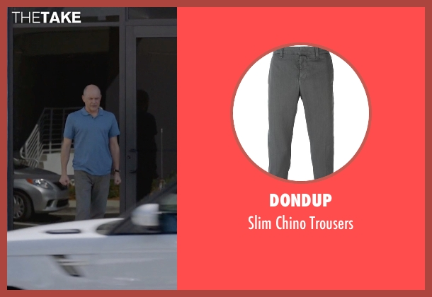 Dondup gray trousers from Ballers seen with Joe (Rob Corddry)