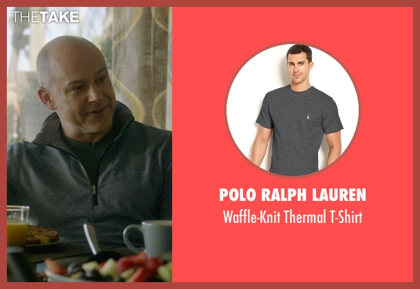 Polo Ralph Lauren gray t-shirt from Ballers seen with Joe (Rob Corddry)