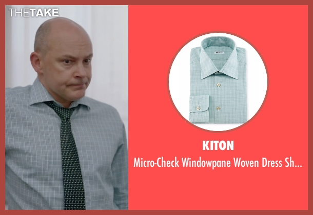 Kiton green shirt from Ballers seen with Joe (Rob Corddry)