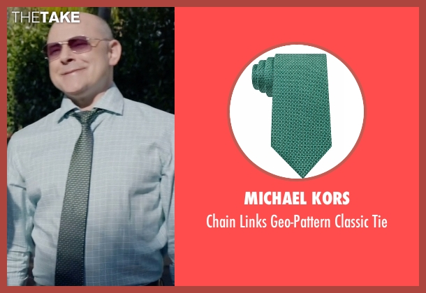 Michael Kors green tie from Ballers seen with Joe (Rob Corddry)