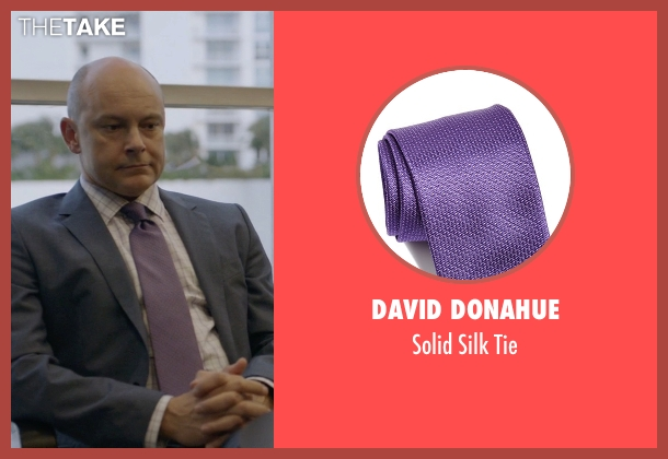 David Donahue purple tie from Ballers seen with Joe (Rob Corddry)