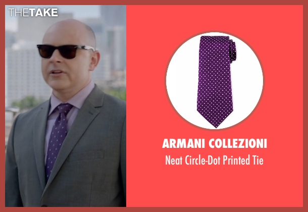 Armani Collezioni purple tie from Ballers seen with Joe (Rob Corddry)