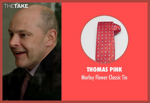 Thomas Pink red tie from Ballers seen with Joe (Rob Corddry)