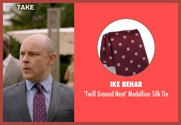 Ike Behar red tie from Ballers seen with Joe (Rob Corddry)