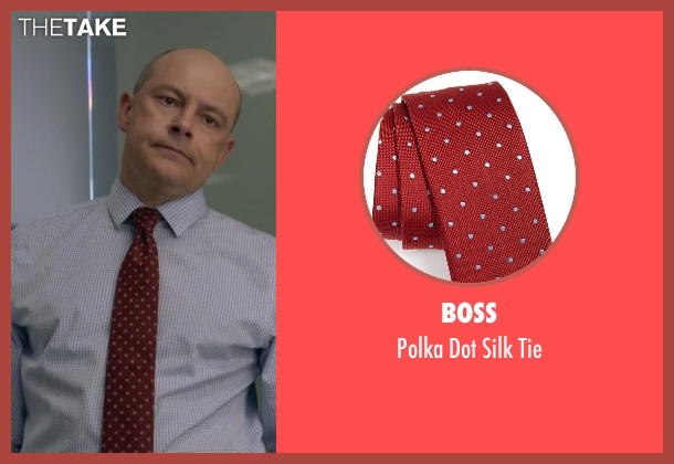 Boss red tie from Ballers seen with Joe (Rob Corddry)