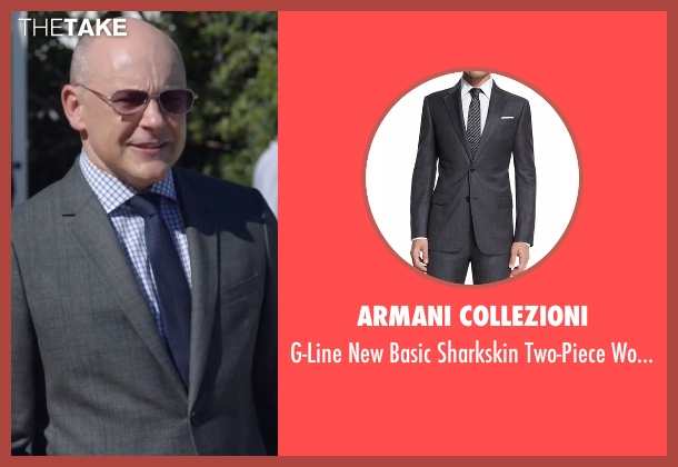 Armani Collezioni suit from Ballers seen with Joe (Rob Corddry)