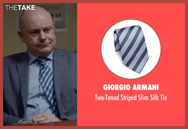 Giorgio Armani tie from Ballers seen with Joe (Rob Corddry)