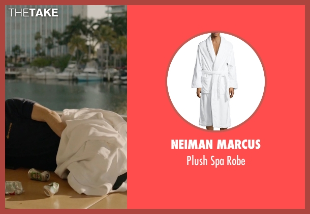 Neiman Marcus white robe from Ballers seen with Joe (Rob Corddry)