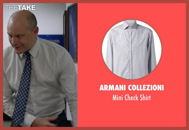 Armani Collezioni white shirt from Ballers seen with Joe (Rob Corddry)