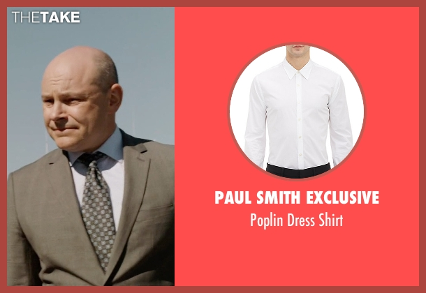Paul Smith Exclusive white shirt from Ballers seen with Joe (Rob Corddry)