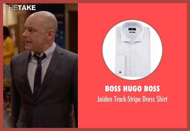 Boss Hugo Boss white shirt from Ballers seen with Joe (Rob Corddry)