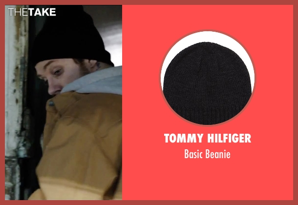Tommy Hilfiger black beanie from Secret in Their Eyes seen with Joe Cole (Marzin / Beckwith)