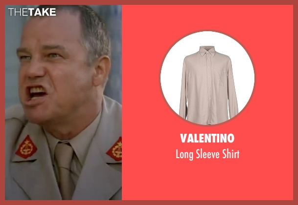 Valentino beige shirt from The Living Daylights seen with Joe Don Baker (Brad Whitaker)
