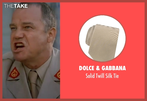 Dolce & Gabbana beige tie from The Living Daylights seen with Joe Don Baker (Brad Whitaker)