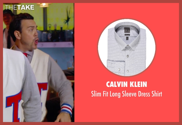 Calvin Klein gray shirt from Pitch Perfect 2 seen with Joe Lo Truglio (Clef # 1)