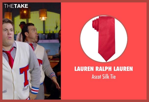 Lauren Ralph Lauren red tie from Pitch Perfect 2 seen with Joe Lo Truglio (Clef # 1)