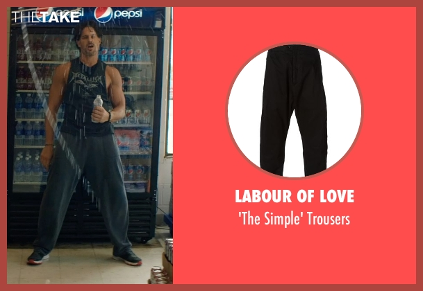 Labour of Love black trousers from Magic Mike XXL seen with No Actor (Big Dick Richie)