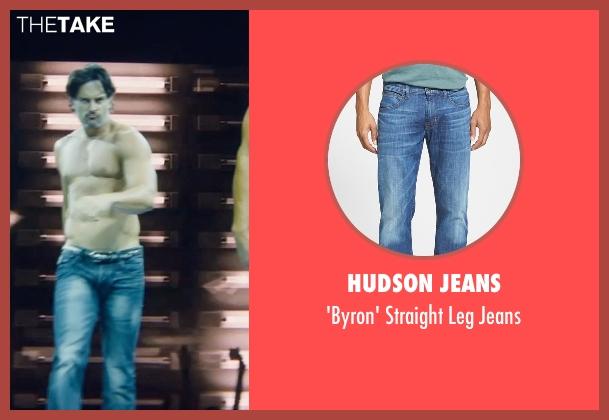 Hudson Jeans blue jeans from Magic Mike XXL seen with Joe Manganiello (Big Dick Richie)