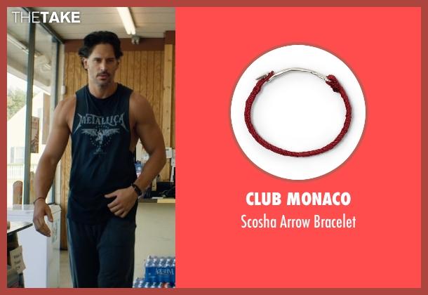 Club Monaco red bracelet from Magic Mike XXL seen with Joe Manganiello (Big Dick Richie)