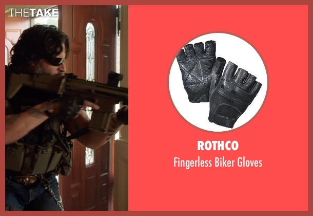 Rothco black gloves from Sabotage seen with Joe Manganiello (Joe 'Grinder' Phillips)