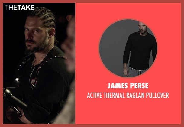 James Perse black pullover from Sabotage seen with Joe Manganiello (Joe 'Grinder' Phillips)