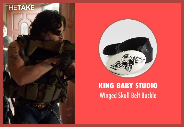 King Baby Studio buckle from Sabotage seen with Joe Manganiello (Joe 'Grinder' Phillips)