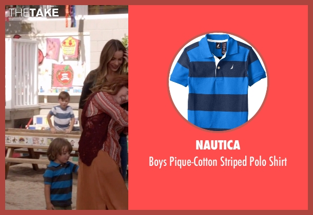 Nautica blue shirt from Modern Family seen with Joe Pritchett (Jeremy Maguire)