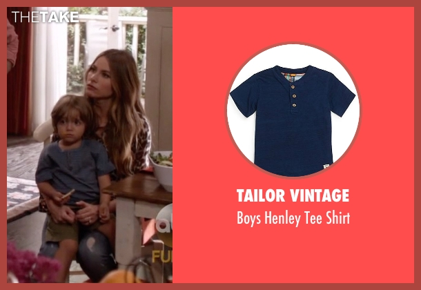 Tailor Vintage blue shirt from Modern Family seen with Joe Pritchett (Jeremy Maguire)