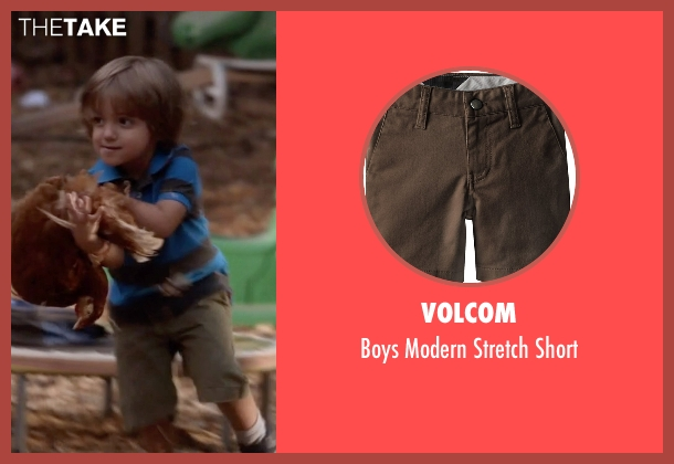 Volcom brown short from Modern Family seen with Joe Pritchett (Jeremy Maguire)