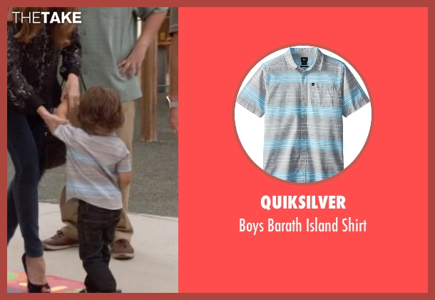Quiksilver gray shirt from Modern Family seen with Joe Pritchett (Jeremy Maguire)