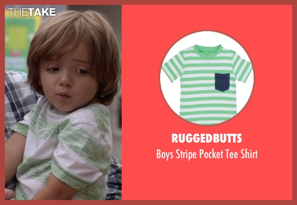 RuggedButts green shirt from Modern Family seen with Joe Pritchett (Jeremy Maguire)