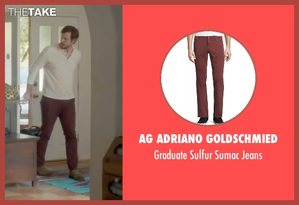 AG Adriano Goldschmied red jeans from Joshy seen with Joe Swanberg (Aaron)