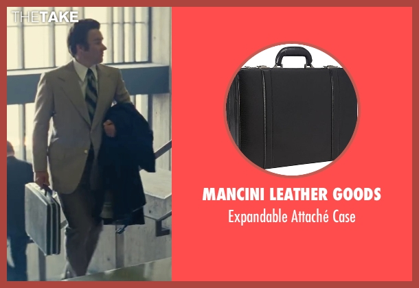 Mancini Leather Goods black case from Black Mass seen with Joel Edgerton (John Connolly)