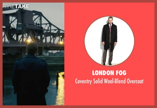 London Fog black overcoat from Black Mass seen with Joel Edgerton (John Connolly)