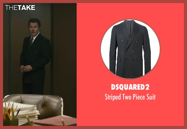 Dsquared2 black suit from Black Mass seen with Joel Edgerton (John Connolly)
