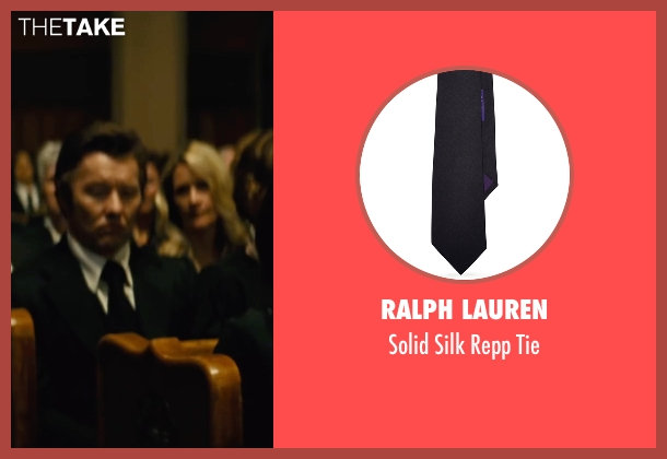 Ralph Lauren black tie from Black Mass seen with Joel Edgerton (John Connolly)