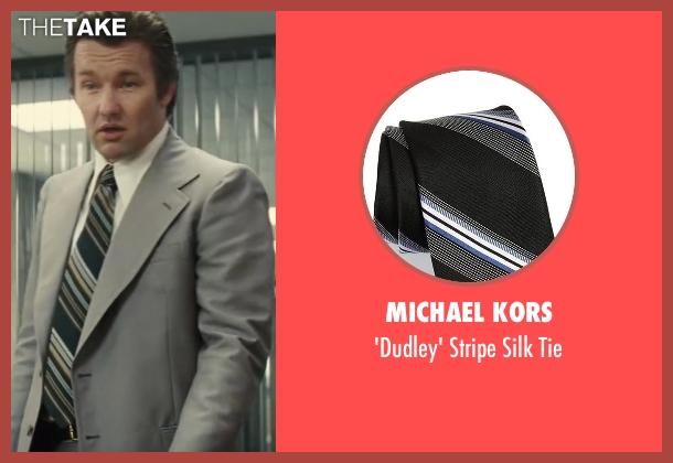 Michael Kors black tie from Black Mass seen with Joel Edgerton (John Connolly)