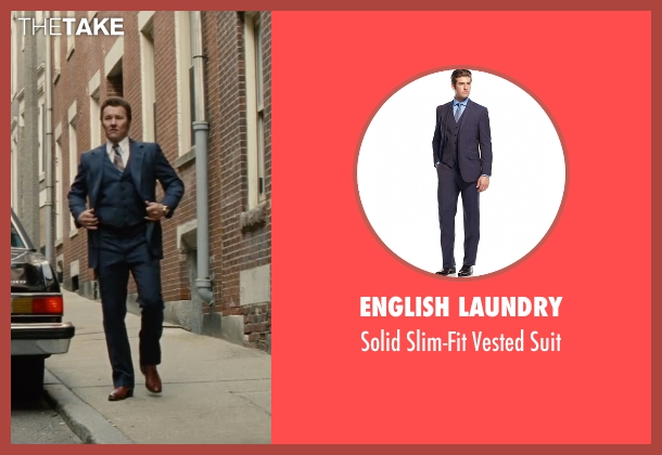 English Laundry blue suit from Black Mass seen with Joel Edgerton (John Connolly)