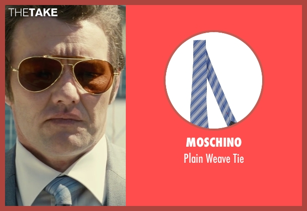 Moschino blue tie from Black Mass seen with Joel Edgerton (John Connolly)