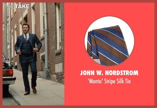 John W. Nordstrom blue tie from Black Mass seen with Joel Edgerton (John Connolly)