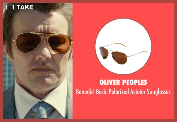 Oliver Peoples brown sunglasses from Black Mass seen with Joel Edgerton (John Connolly)