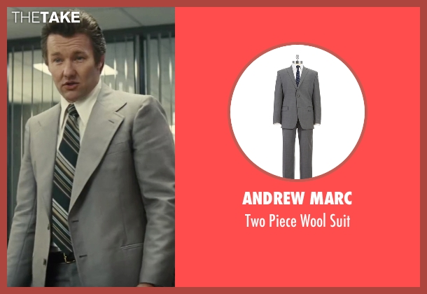 Andrew Marc gray suit from Black Mass seen with Joel Edgerton (John Connolly)