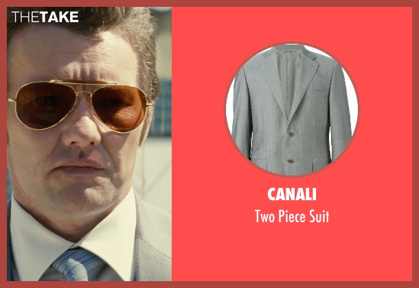 Canali gray suit from Black Mass seen with Joel Edgerton (John Connolly)