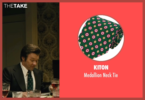 Kiton green tie from Black Mass seen with Joel Edgerton (John Connolly)