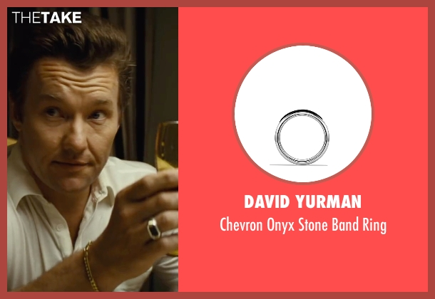 David Yurman silver ring from Black Mass seen with Joel Edgerton (John Connolly)