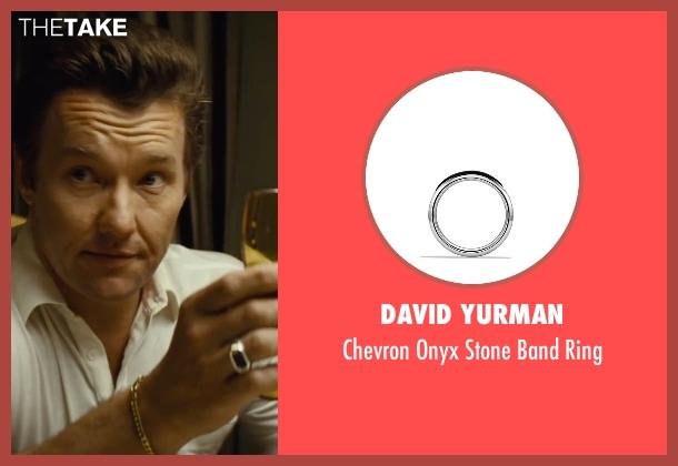David Yurman silver ring from Black Mass seen with Joel Edgerton (John Connolly)