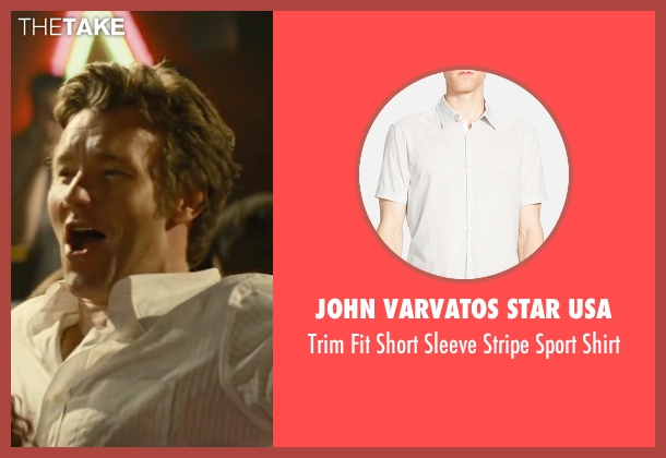 John Varvatos Star USA white shirt from Black Mass seen with Joel Edgerton (John Connolly)