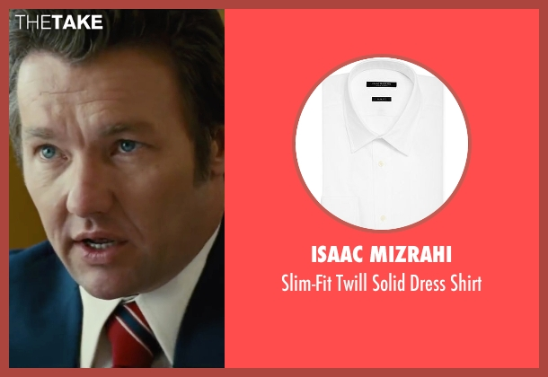 Isaac Mizrahi white shirt from Black Mass seen with Joel Edgerton (John Connolly)