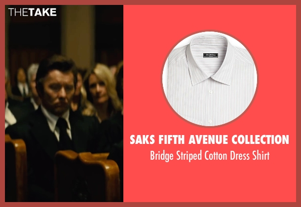 Saks Fifth Avenue Collection white shirt from Black Mass seen with Joel Edgerton (John Connolly)